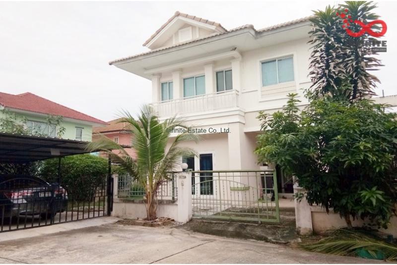 บ้านเดี่ยว 2 ชั้น บุรีรมย์ รามอินทรา-ซาฟารี ถนนเลียบคลองสอง หลังมุม