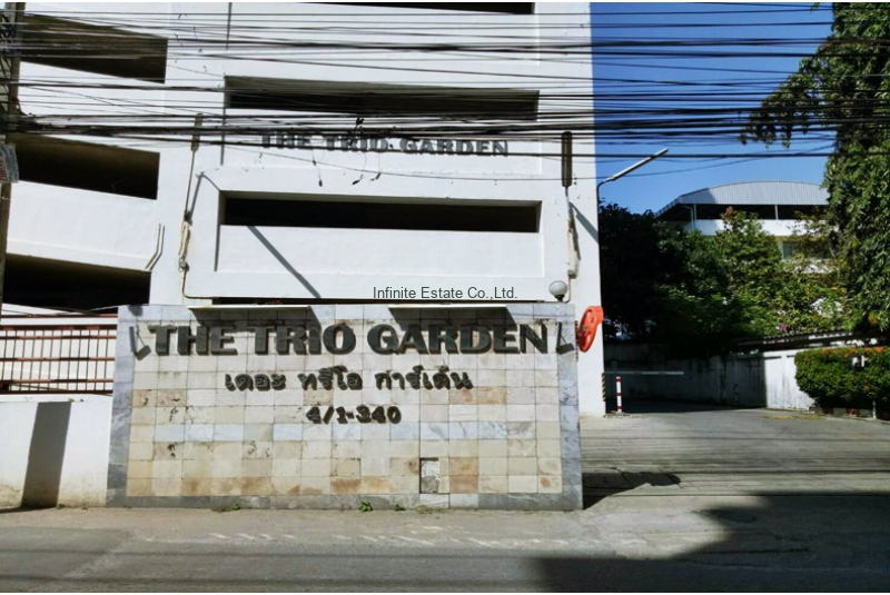 ขายคอนโด 105 ตรม.ห้องมุมThe Trio Garden เดอะ ทรีโอ การ์เด้นท์ ถนนศรีนครินทร์ 38
