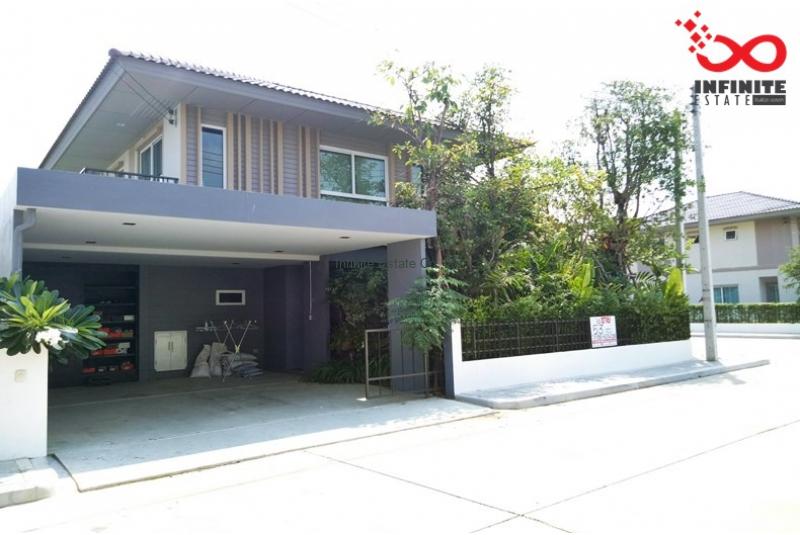 บ้านเดี่ยว 2ชั้น  ฮาบิเทีย บอนด์  ราชพฤกษ์ ถนน345 ตกแต่งสไตล์loft หลังมุม