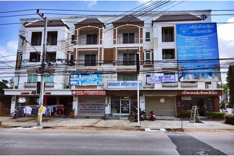 ให้เช่าและขายตึกแถว 4 ชั้น ถ.ชัยพฤกษ์ 2 เมืองพัทยา ชลบุรี